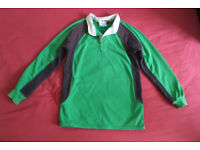 Reversible Ruby/Football Top (As New)