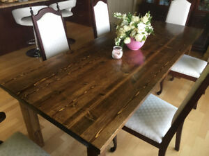 Rustic Farmhouse real wood dining table.
