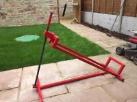 Ride on lawnmower Lift