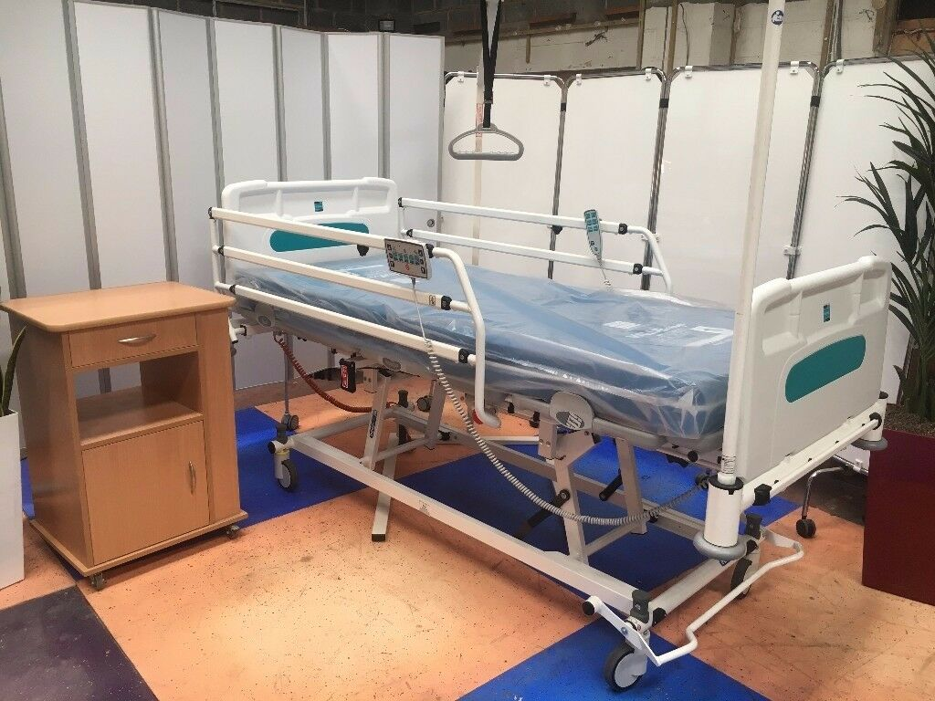 Cardiac chair hospital bed - New Hospital Bed Electric Profiling Hospital Bed Sidhil Innov8 Iq Ward Bed