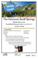 Fairmont Banff Springs at the Job Resource Centre