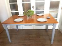 SOLID WOOD TABLE FREE DELIVERY LDN🇬🇧SHABBY chic