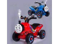 THOMAS FRIEND style kids ride on electric train quad bike motorbike.