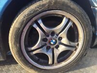 BMW E46 3 SERIES 17 INCH M SPORT ALLOYS ALLOY WHEELS WITH GOOD TYRES
