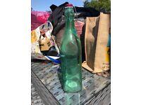 Kilner green glass bottle