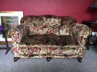 Sofa, antique 2/3 seater