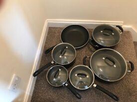 6 piece Pro Cook Gourmet Pan Set Excellent Condition