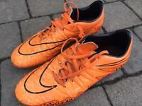 Nike Orange Hypervenom boots Size 7.5