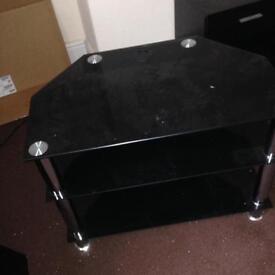 Black Gloss Glass TV Stand