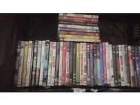 Job lot of 47 DVDs ideal for car boot