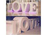 Love table for weddings and events