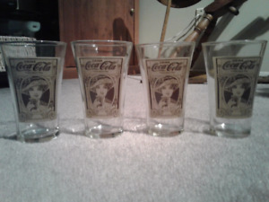 Coca-Cola collectible glasses - sets of four