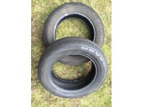 4 all-year part-worn car tyres in good condition!