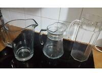 3x glass jugs