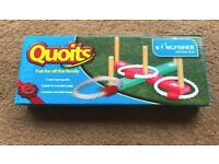 Wooden garden quoits game
