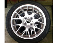 MINI ALLOYS - x4, 16 INCH WITH LEGAL TYRES