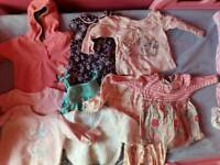 Large bundle of baby girl clothes 3-6 months