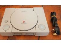 Fully Working PlayStation 1 with Power Lead