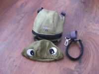 Little Life Green Turtle Backpack with Reins and Hood Excellent Condition
