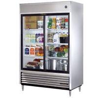 Commercial double glass door cooler for rent