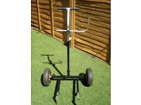 Take appart fishing trolly with inflatable wheels very good condition