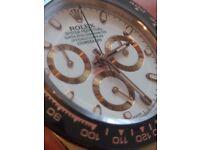 ROLEX DAYTONA 116515 WHITE DIAL ON BROWN LEATHER STRAP ETA 7750 50th ANNIVERSARY EDITION
