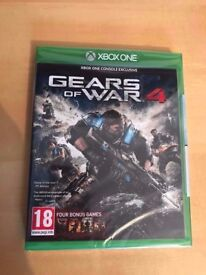 gears of war 4 & halo 5 guardians , both brand new & sealed , xbox one ! price stands , no offers !