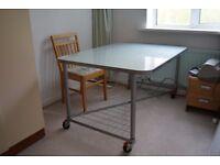Glass & Metal Office Desk