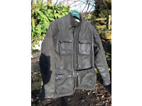 Wax cotton trailmaster motorcycle jacket