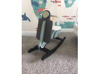 Child's wooden rocker scooter