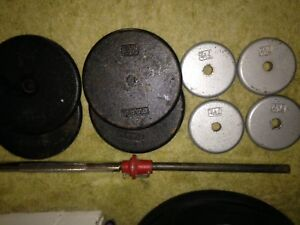 METAL WEIGHT PLATES & FITNESS ITEMS