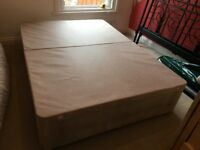 Double divan bed with headboard (and mattress)