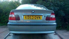 BMW 320 DE SE AUTO .4 DOOR SALOON DIESEL CAR. 1995CC FOR SPARES.