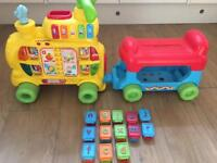 Vtech push &pride aplphabet train