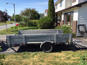 Heavy Duty 12 foot utility trailer with folding ramp