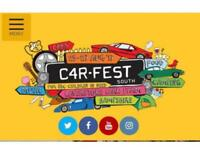 2 x Carfest South adult weekend camping tickets PLUS child ticket