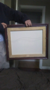 Newfoundland art with great frame..GREAT DEAL!