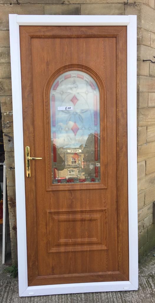 Oak Upvc door half glass white frame Very Tidy Used | in Bradford ...
