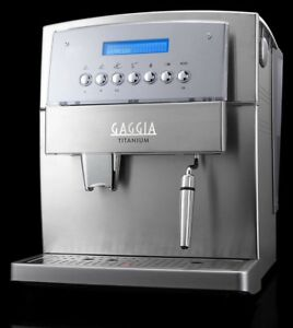 Gaggia Titanium Super-Automatic Espresso~retails for $999 usa