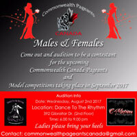 Casting Male and Female Contestants for Commonwealth Pageants