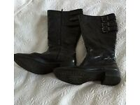 Womens black boots size 37
