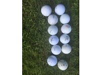 12 Golfballs Top Brand Used
