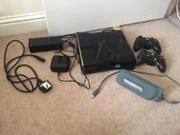 Xbox 360 console with 2 controllers and hard drive