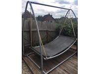 Double garden hammock swing