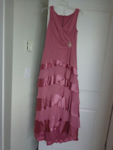 Beautiful pink color, like new, formal ladies gown