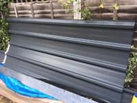 Steel roofing panels (galvanised style)