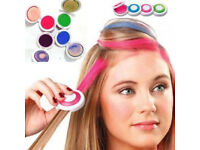 4pcs Hot Huez Non-toxic Temporary Hair Chalk Dye Soft Pastels Salon Kit UK