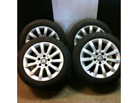 "16"" x4 GENUINE USED MERCEDES ALLOY WHEELS & TYRES FITS B CLASS C CLASS"