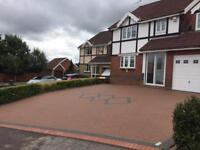 Resin driveway, paths, garden patio, landscaping, tools