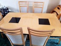 Stunning italian Extendable Dining Table And 6 Chairs